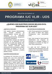 ¿Quiénes son nuestros socios belgas en el Programa IUC VLIR-UOS?