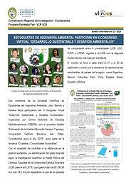 Boletín informativo 21 - 2020