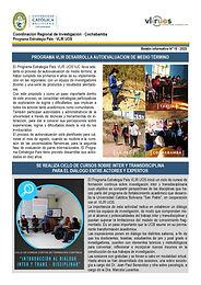 Boletín informativo 15 - 2020