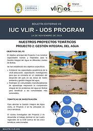 Nuestros proyectos temáticos: Proyecto 2: Gestión Integral del Agua