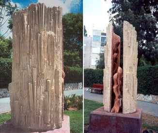 Memorial sculpture in memory of Oren Zarif