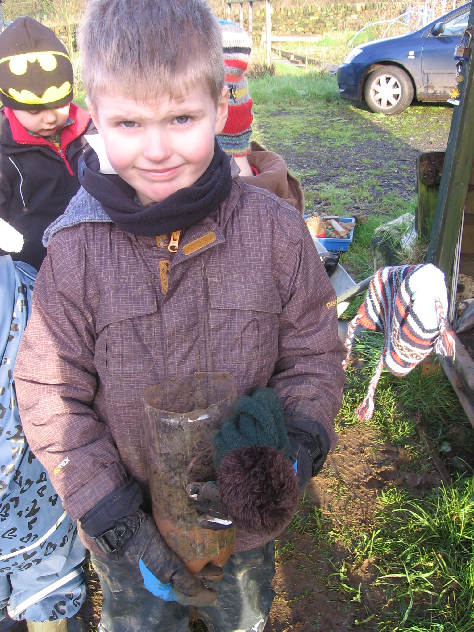 Infants on the allotment