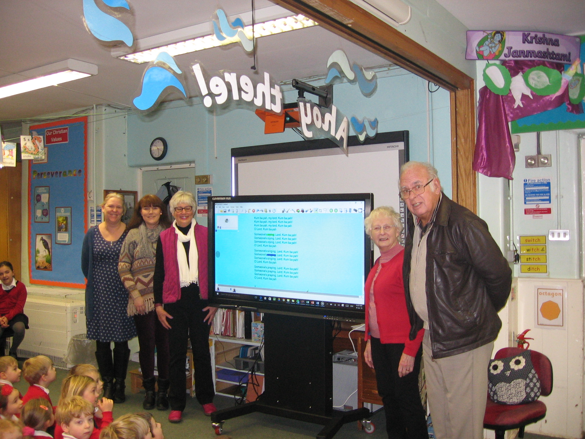 Presentation of the new Clever Touch Tvs by the Crich Carr Trust