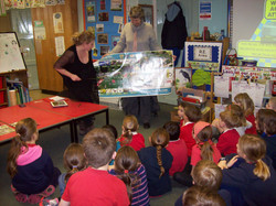 Consulting pupils about the proposed playground in Crich