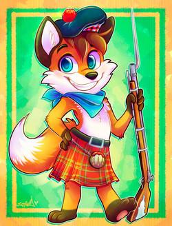 Scottish Rebel Character Design