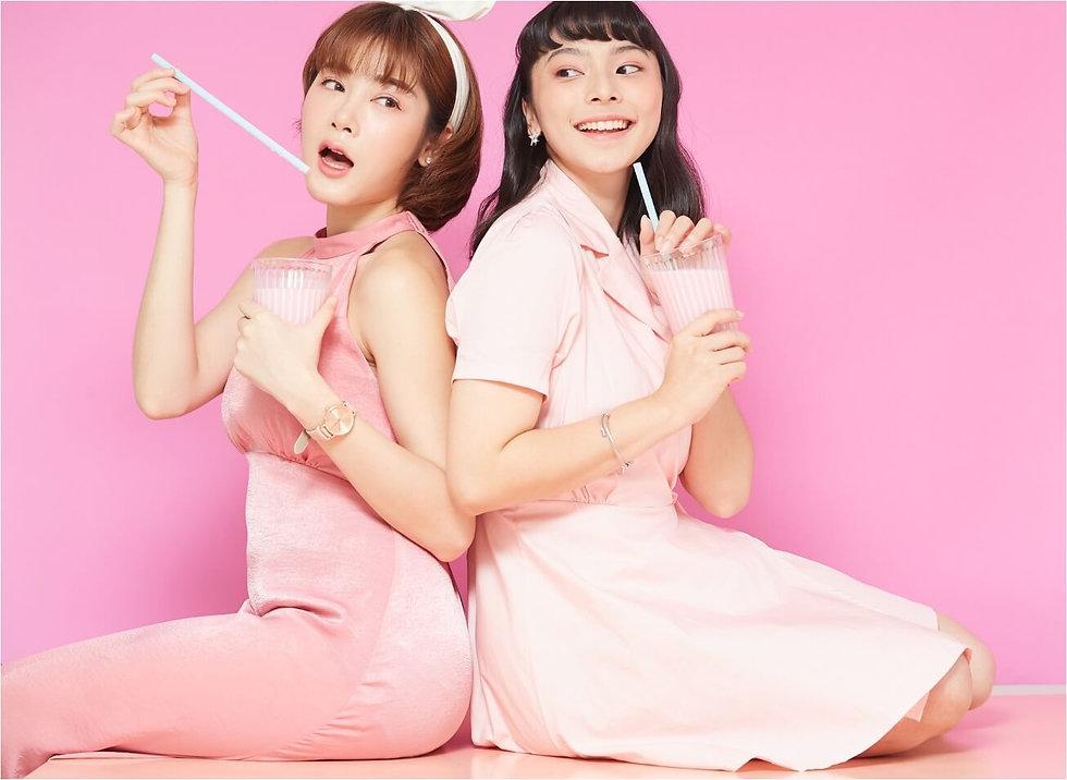 女子会 ティータイム パステルピンク小.jpg