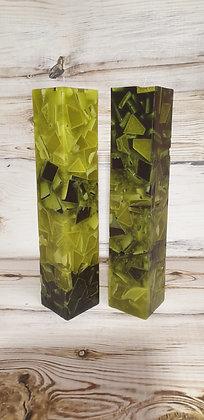 Svíce Mechově zelená 7x7x30