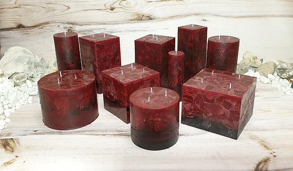 Svíce vínová 6x6x16