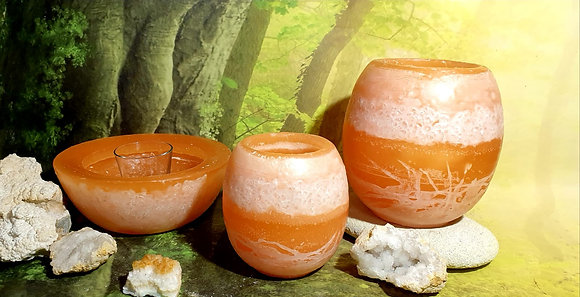 Lampion velký s kameny - meruňkový