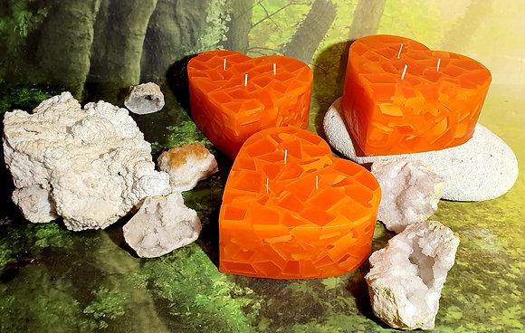 Svíce Srdce 16x7 Červený pomeranč