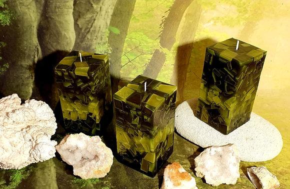 Svíce Mechově zelená 8x8x16