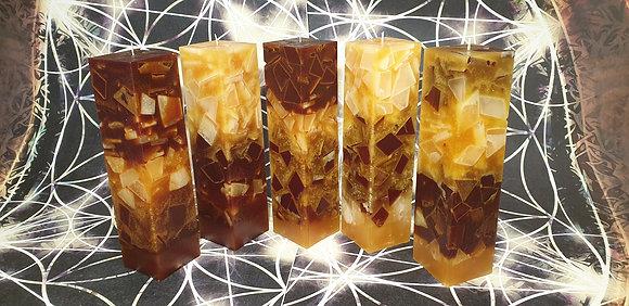 Svíce hnědo-béžová 6x6x30