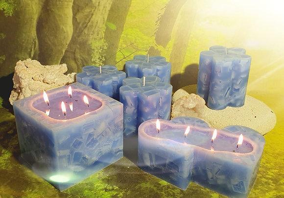 Svíce Ledová Modrá KVĚTINA 10x10