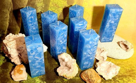 Svíce Blue Light 5x5x16