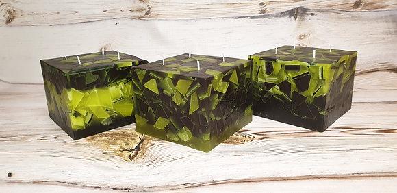 Svíce Mechově zelená 16x16x12