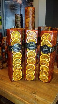 Svíce NATURE Decor 7x7x30 Pomeranč