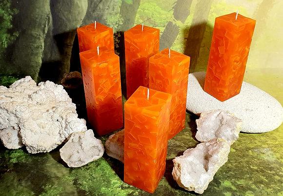 Svíce Červený pomeranč 5x5x16
