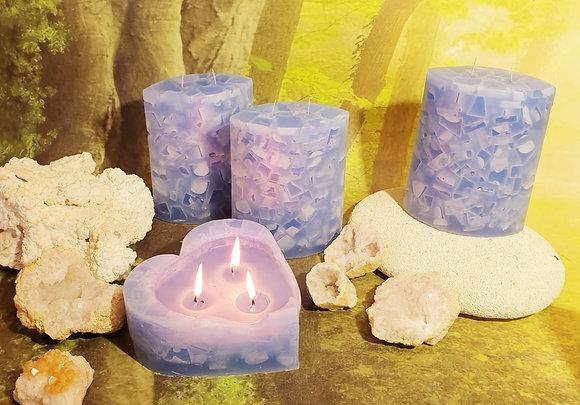Svíce Srdce 16x7 Ledová Modrá
