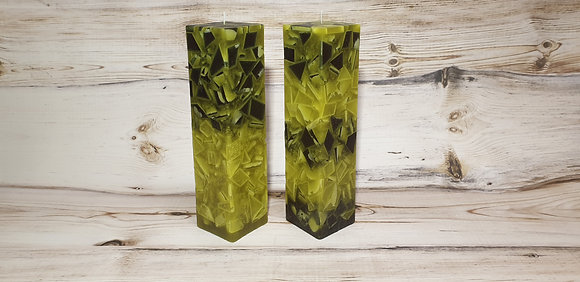 Svíce Mechově zelená 6x6x30