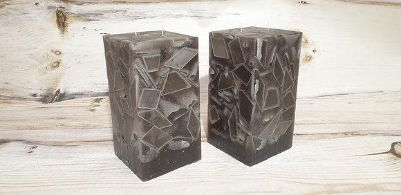Svíce šedá 10,5x10,5x19