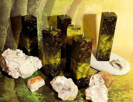 Svíce Mechově zelená 5x5x21