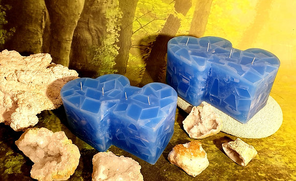 Svíce Srdce dvojité 20x7 Blue Light