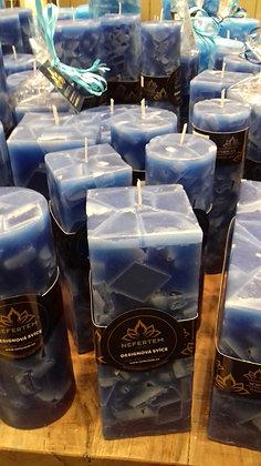 Svíce Blue Dark 6x6x16