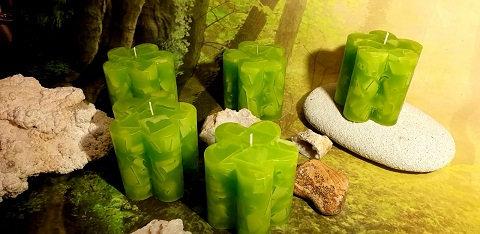Svíce Jarní zelená KVĚTINA 10x10