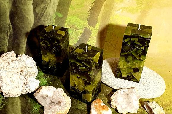 Svíce Mechově zelená 7x7x16