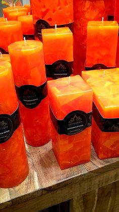Svíce Červený pomeranč 6x6x16