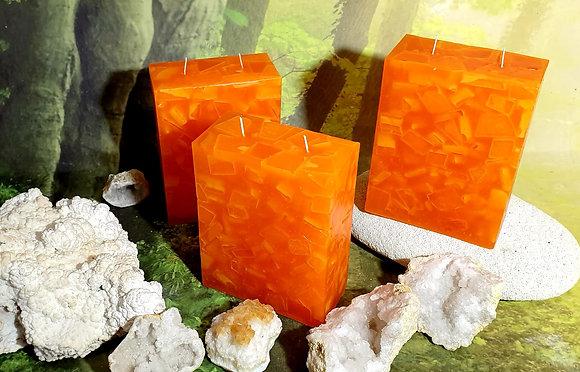 Svíce Červený pomeranč 6x12x16 KVÁDR