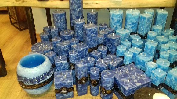 Svíce Blue Dark 8x8x16