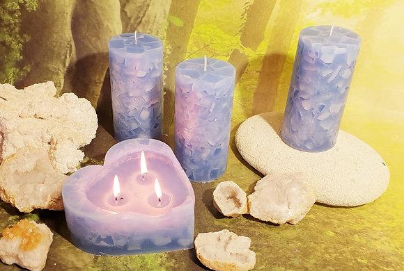 Svíce Ledová Modrá 8x16