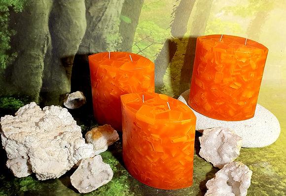 Svíce Červený pomeranč 7x14x16 ELIPSA