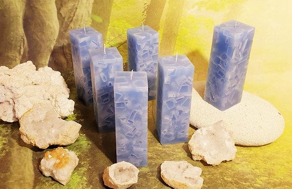 Svíce Ledová Modrá 5x5x16