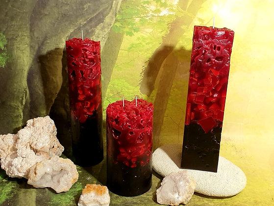 Ledová svíce Živel ohně-černá 10x19