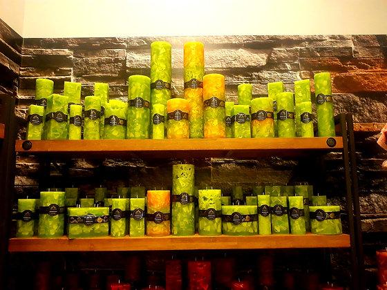 Svíce Jarní zelená 6x6x30