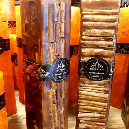 Svíce NATURE Decor 7x7x30 Skořice