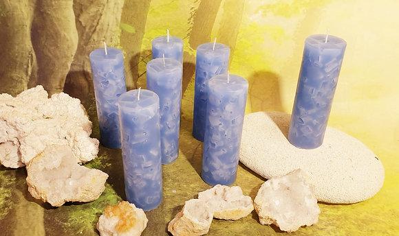 Svíce Ledová Modrá 5x16