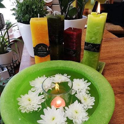 Wellness mísa zelená s drahými kameny
