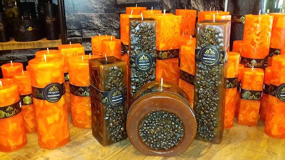 Svíce NATURE Decor 7x7x21 Káva