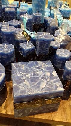 Svíce Blue Dark 16x16x12