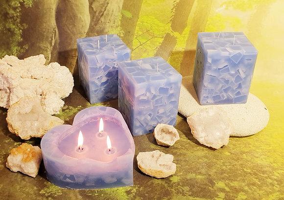 Svíce Ledová Modrá 10x10x12