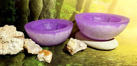 Wellness mísa violet s kameny