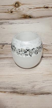 Lampion malý bílý s barevnými kameny