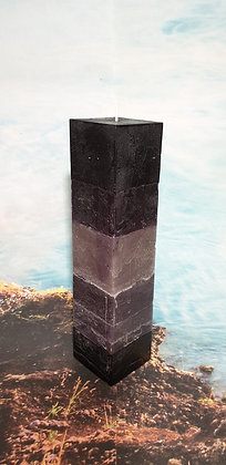 Svíce Stone Black 7x7x30