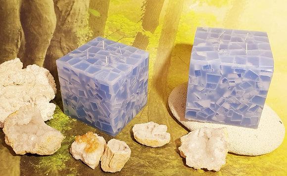Svíce Ledová Modrá 13x13x12