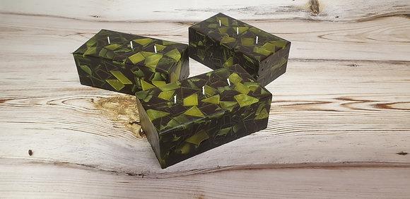 Svíce Mechově zelená 10x19x7 KVÁDR