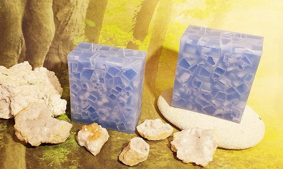 Svíce Ledová Modrá 7x14x16 KVÁDR