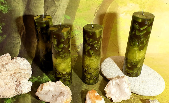 Svíce Mechově zelená 6x21